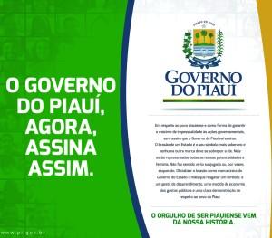 O anúncio com a mudança na marca do Governo.